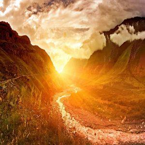 Angelic Sunrise Mountain Path